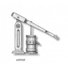 4355/05 Set 2 pompe simple din metal pentru navomodele, 18mm, Amati