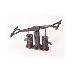 4355/08 Set 2 pompe duble din metal pentru navomodele, 11mm, Amati