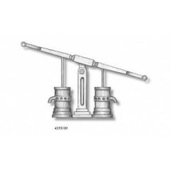 4355/09 Set 2 pompe duble din metal pentru navomodele, 18mm, Amati