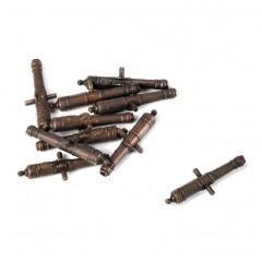 4167 Set 5 tunuri decorate din alama, 20mm, Amati