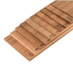 2351 Foaie de lemn Dibetou pentru modelism, 150x500mm