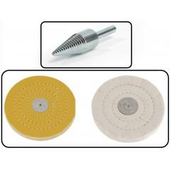 Set Adaptor conic pentru fixarea discurilor de slefuire bijuterii/metale + Discuri Slefuire Bijuterii