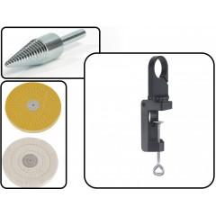 Set Adaptor conic + Discuri slefuire + Suport de prindere 4802