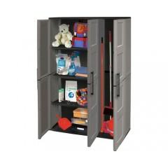 Dulap utilitar plastic 3 uși 1020x370x1630 mm, cu 3 polițe și spațiu pentru unelte înalte