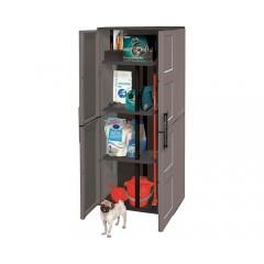 Dulap utilitar plastic 2 uși, Free 680x370x1630 mm, cu 3 polițe și stâlp pe mijloc