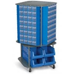 CKD. 13 Stand mobil cutii organizare / depozitare piese