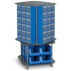 CKD. 14 Stand mobil cutii organizare / depozitare piese