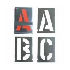 Set sabloane vopsire litere a-z,& (27 piese),10-100 mm