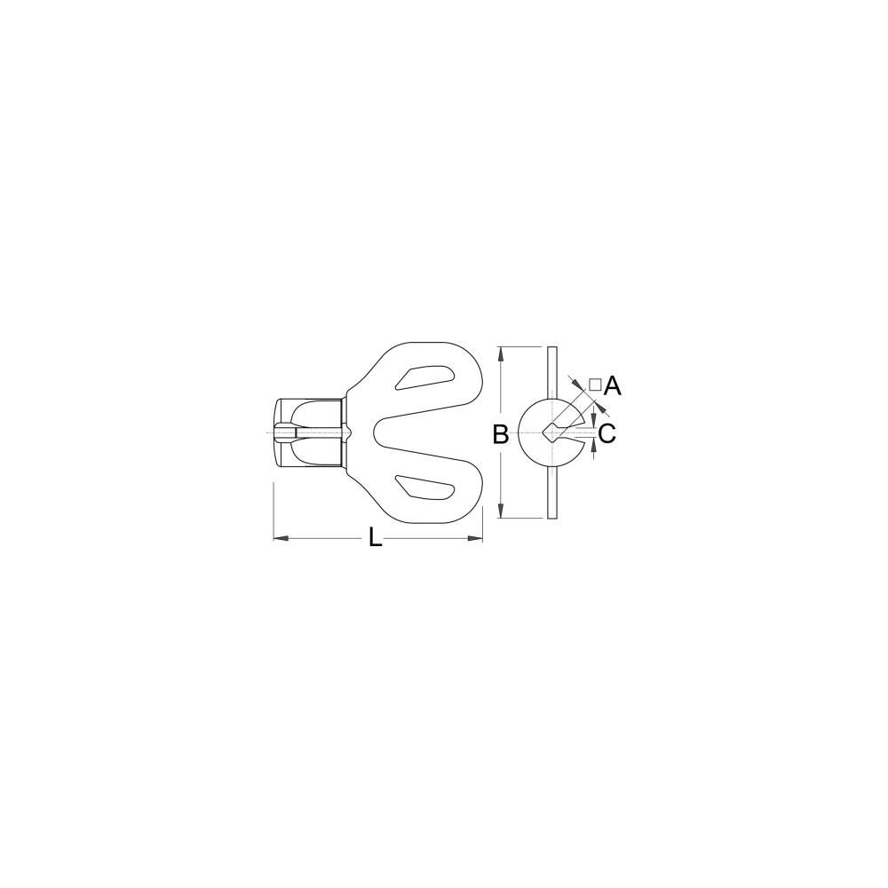 Unior radios clave para 3,3//3,45mm pezones