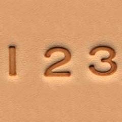 Set stante embosare piele CIFRE de 6mm.