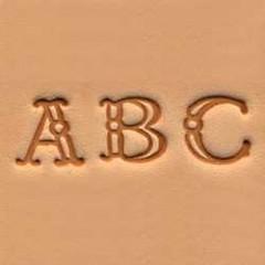 Set stante embosare piele ALFABET litere mari de 10mm.
