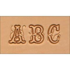 8139-00 Set stante embosare piele ALFABET litere mari de 19mm.