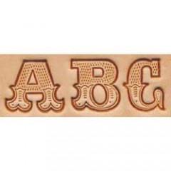 8145-00 Set stante embosare piele ALFABET litere mari de 19mm.