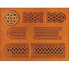 """76611-00 Sablon pielarie """"Celtic"""" pentru curele Tandy Leather"""