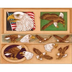 "76536-00 Sablon pielarie ""Vultur american"" Tandy Leather"