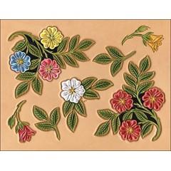 "76603-00 Sablon pielarie ""Trandafiri"" pt curele Tandy Leather"
