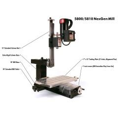 Minifreza SHERLINE NexGen de banc 5810 Metric