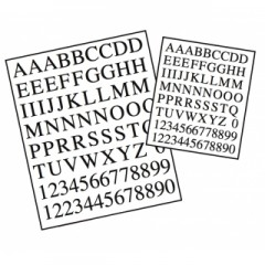 5650/02 - Set litere si cifre din alama fotoincizata 10mm